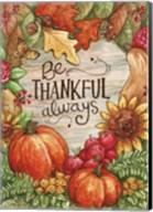 Leaves Heart Be Thankful Fine-Art Print