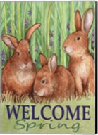 Bunnies Welcome Spring Fine-Art Print