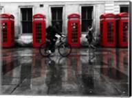 London Phone Booths People Fine-Art Print
