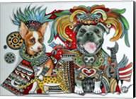 Chihuahua and Pitbull in Mexico Fine-Art Print