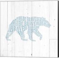 Bear Shiplap Fine-Art Print
