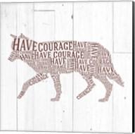 Wolf Shiplap Fine-Art Print