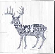 Deer Shiplap Fine-Art Print
