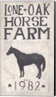 Lone Oak Horse Farm Fine-Art Print