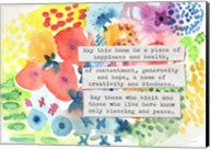 Jewish Home Blessing Floral Fine-Art Print
