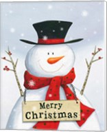 Merry Christmas Snowman Fine-Art Print