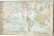 World Map Vintage 1913 Fine-Art Print