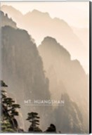 Vintage Mount HuangShan, Yellow Mountains, China, Asia Fine-Art Print