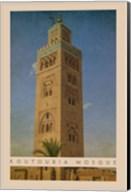 Vintage Koutoubia Mosque, Marrakesh, Morocco, Africa Fine-Art Print