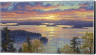 Sunset Over The San Juan Islands Fine-Art Print