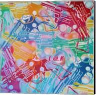 Abstract Pop Guns Fine-Art Print