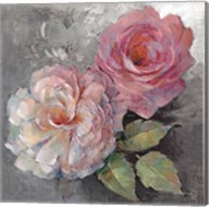 Roses on Gray I Fine-Art Print