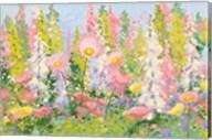 Garden Pastels I Blue Sky Fine-Art Print