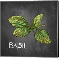 Basil on Chalkboard Fine-Art Print