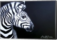 Zebra On Black Fine-Art Print