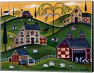 American Organic Herb  Sheep Cow Farmland Fine-Art Print