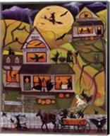 Halloween School of Witchcraft Fine-Art Print