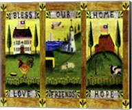 Bless our Home Love Friends Hope Lang Fine-Art Print