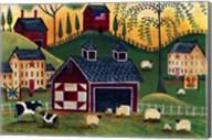 Sunrise Red Quilt Barn Fine-Art Print