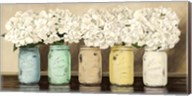 Hydrangeas in Mason Jars Fine-Art Print