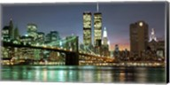 The Brooklyn Bridge and Twin Towers at Night Fine-Art Print