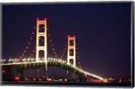 Mackinac Bridge at Night Fine-Art Print