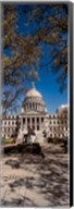 Statue outside a Government Building, Mississippi State Capitol, Jackson, Mississippi Fine-Art Print