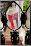 Mississippi Mississippi state flag at the Waverley Plantation Fine-Art Print