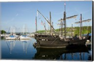 Mississippi Reproductions of Columbus ships the Nina and Pinta Fine-Art Print