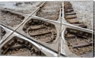Mississippi, Corinth Crossroads Museum Rail track crossing Fine-Art Print