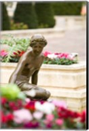 Sculpture, Palace, Monte Carlo, Monaco Fine-Art Print