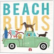 Beach Bums Truck I Square Fine-Art Print
