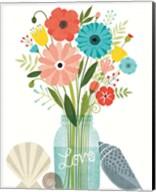 Seaside Bouquet II Mason Jar Fine-Art Print