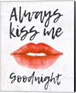 Lips - Kiss Me Goodnight Fine-Art Print