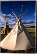Sioux Teepee at Sunset, Prairie near Mount Rushmore, South Dakota Fine-Art Print