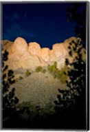 Mount Rushmore National Memorial Lit Up, South Dakota Fine-Art Print