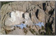 Two F/A-18E Super Hornets conduct a fly by of Mount Rushmore Fine-Art Print