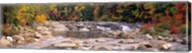 New Hampshire, White Mountains National Forest, River flowing through the wilderness Fine-Art Print