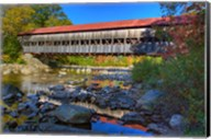 Albany covered bridge over Swift River, White Mountain National Forest, New Hampshire Fine-Art Print