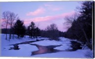 Winter from Bridge on Lee-Hook Road, Wild and Scenic River, New Hampshire Fine-Art Print