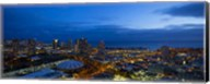 Downtown Honolulu at Night, Oahu, Hawaii Fine-Art Print