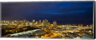Downtown Honolulu Lit-Up at Night, Oahu, Hawaii Fine-Art Print