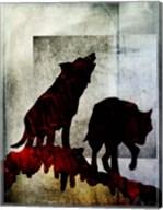 Pair Of Wolves Fine-Art Print