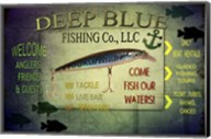 Fishing - Deep Blue LLC sign Fine-Art Print