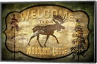 Welcome - Lodge Moose Fine-Art Print