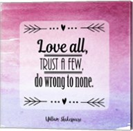 Love All, Trust a Few Magenta Ombre Fine-Art Print