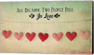 Two People Fell in Love Cotton Hearts Fine-Art Print