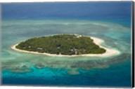 Tavarua Island and coral reef, Mamanuca Islands, Fiji Fine-Art Print