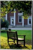 Bench in Sharon, Litchfield Hills, Connecticut Fine-Art Print