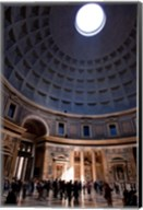 Interior of the Pantheon in Rome, Lazio, Italy Fine-Art Print